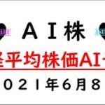 【AI株】明日の日経平均株価予想 2021年6月8日